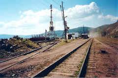Вид на портовые краны