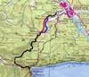 Карта варианта прокладки дороги по Иркуту
